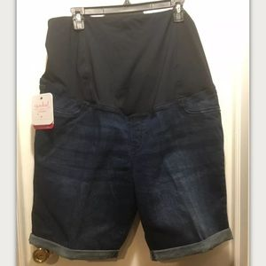 Maternity Jeans Shorts by Isabel Size 18